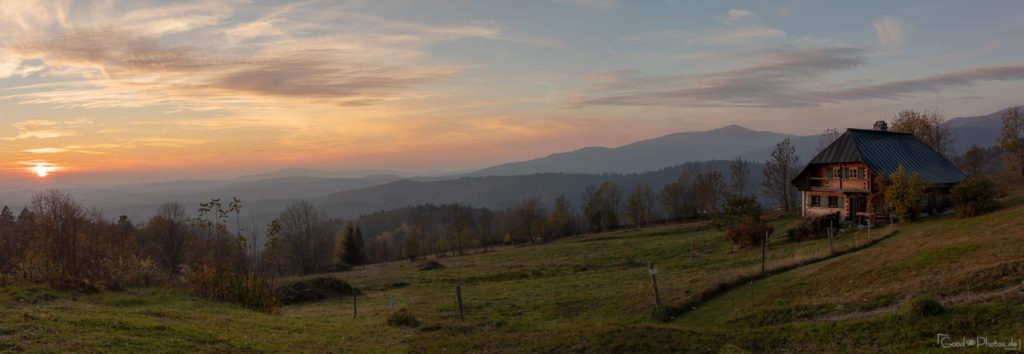 Sunset in the Bavarian Forest
